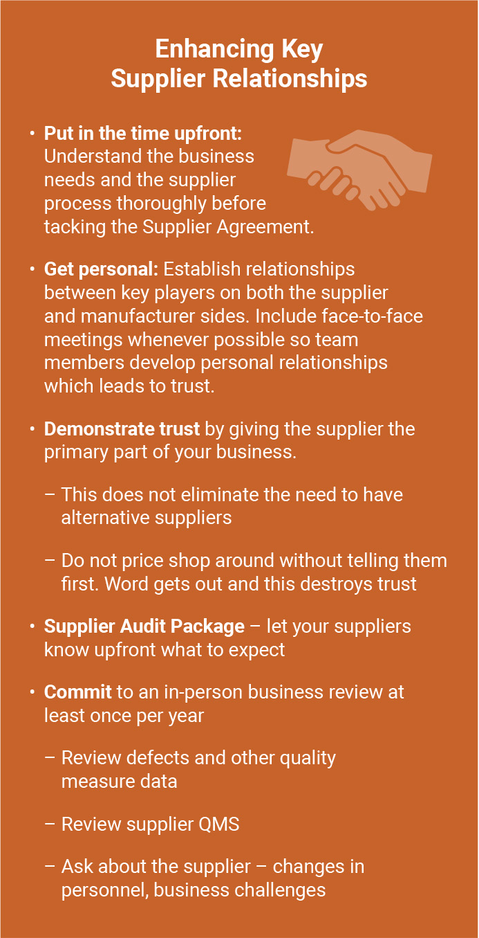 Implementing Risk Managed Supplier Quality - Enhancing Key Supplier Relationships