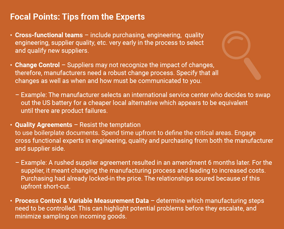 Implementing Risk Managed Supplier Quality - Focal Points_ TIPS FROM THE EXPERTS