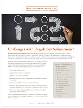 Medical Device Regulatory Services Handout